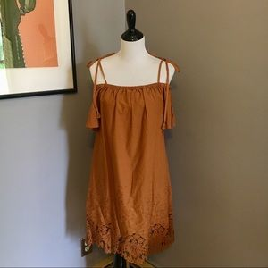 NWT - Madewell cold shoulder embroidered dress